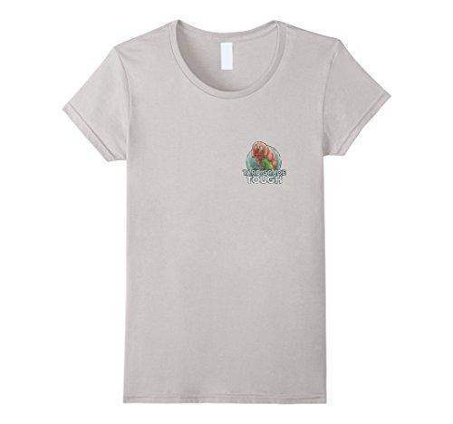 Silver Bear Design - Womens Tardigrade Water bear Science T shirt Graphic Plush Design Medium Silver