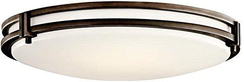 Kichler 10828OZ Flush Mount 3-Light Fluorescent, Olde Bronze