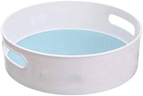 お盆 LSDSY 多機能なアンチスリップの回転の貯蔵の皿absの化粧品の貯蔵の棚の台所の貯蔵の皿のデスクトップのフルーツの皿 22.5x22.5x6.7 cm 01