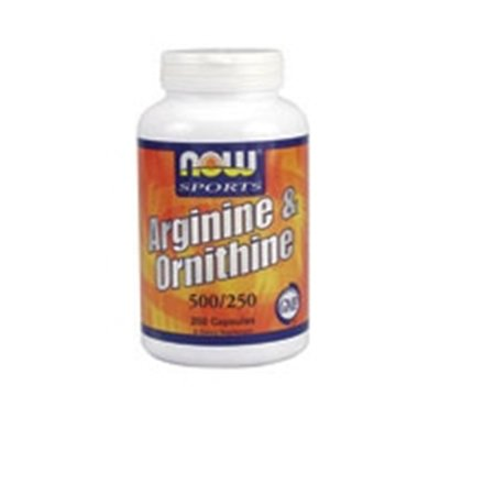 Now Foods Arginine & Ornithine 500/250mg - 250 Caps 8 Pack