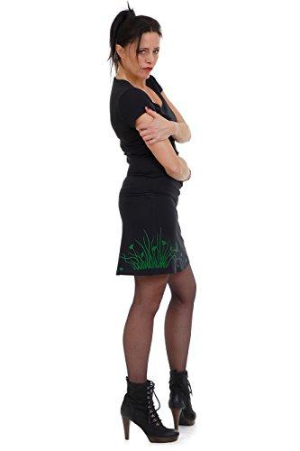 courte t dames prairie A Gothique berlin elfes et made d'impression Vert in Femme Jupe Ligne noir fleur AqRpxAdn