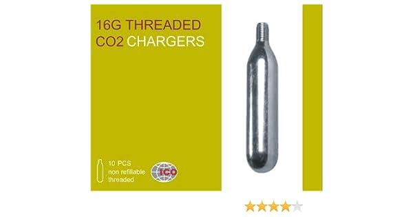 10x Bombona Botella de CO2 16g con rosca para Inflado de Rueda Neumatico Bicicleta: Amazon.es: Deportes y aire libre