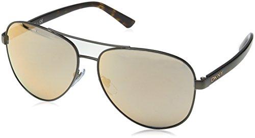 DKNY Women's 0dy5084 Aviator Sunglasses, Satin Tobacco and Dark Tortoise, 61 mm (Sunglasses Dkny Aviator)