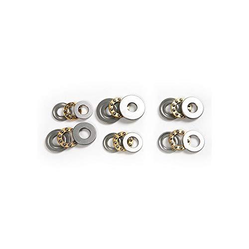 (4Pcs High Precision Miniature Thrust Ball Bearings F8/F9/F10 Metal Axial Ball Bearing Set 8mm/9mm/10mm for Hardware Accessories,8x16x5mm)