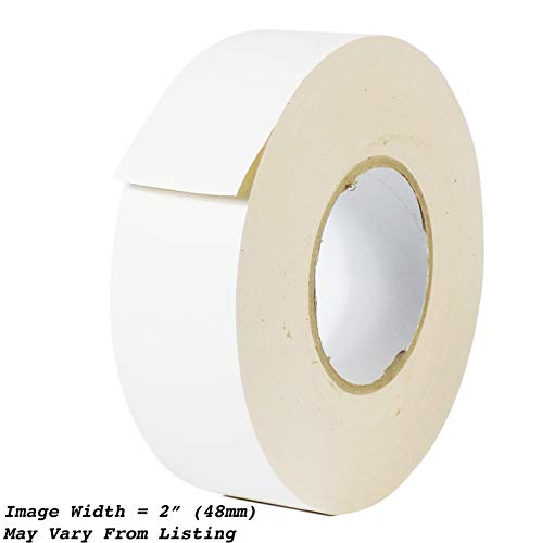 MAT Gaffer Tape White Low Gloss Finish Film - 4 in. x 60 Yards - Residue Free, Non Reflective, Better Than Duct Tape (Available in Multiple Colors)