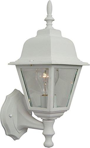 """Craftmade Z170-TW Coach Lights Outdoor Wall Mount Sconce Lighting, 1-Light, 60 Watts, Textured Matte White (6"""" W x 15"""" H)"""