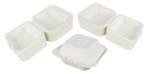 Green Earth 6-Inch, 100-Count, Compostable Clamshell, Natura
