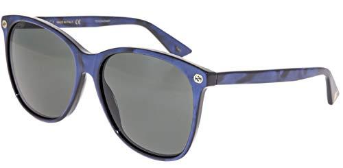 Gucci GG0024S Sunglasses Blue w/Gray Lens 005 GG 0024S ()