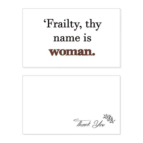 Frailty Names Woman Shakespeare Thank You Card Birthday Wedding Business Message Set