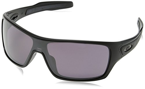 Oakley Men's Turbine Rotor Polarized Iridium Rectangular Sunglasses, Matte Black w/Prizm Daily Polarized, 132 - Prizm Black Polarized