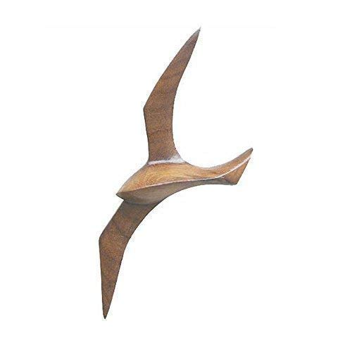 Möwe als Wanddeko Wandhänger Möwe aus Messing Spannweite 30 cm