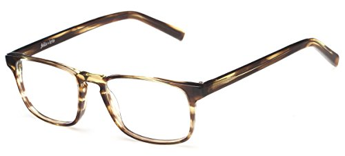 Readers Com Grove By Felix   Iris Olive Tortoise Striped Optical Quality Readers With Keyhole Bridge Rectangle Reading Glasses