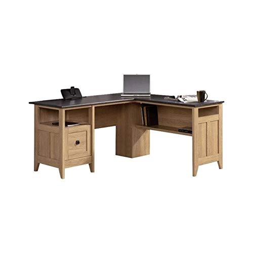 Sauder 412320 August Hill L-Shaped Desk, L: 59.06