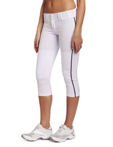 Easton Womens Pro Pipepant, White/Black, X-Large - Easton Pro Pant