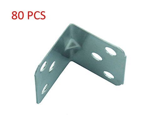 Smart&Cool ® Stainless steel angle code right angle, 6 hole, 35mm x 29mm x1.2mm(thick) 80Pcs