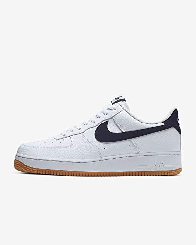 Nike Air Force 1 '07 2 White/Obsidian-University Red (9.5 D(M) US) (Nike Air Force 1 Low Gym Red White)