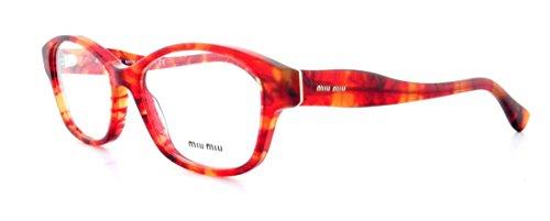 Miu Miu MU03IV Eyeglasses-GAT/1O1 Red - Miu Glasses Miu Red