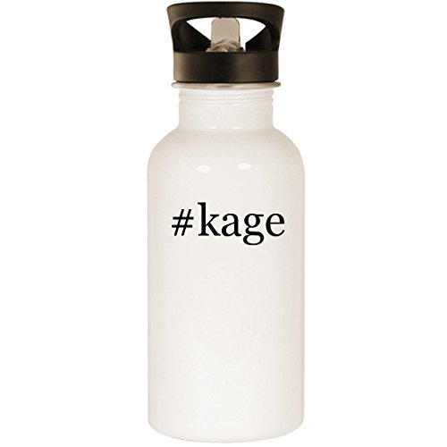 eel Hashtag 20oz Road Ready Water Bottle, White ()
