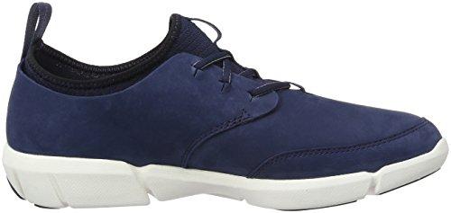 Blue Uomo Clarks Scarpe Triflow Basse Form Nubuck Ginnastica da Blu nqqfYg86w