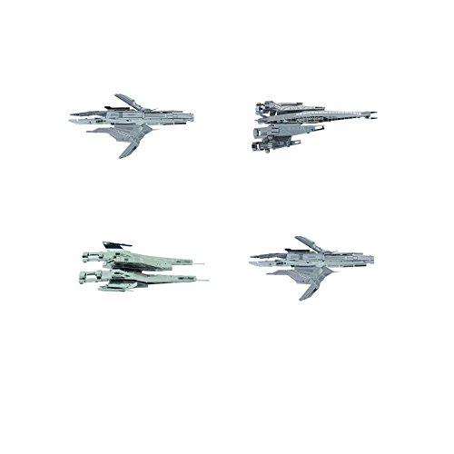 (Metal Earth 3D Model Kits - Dark Horse Mass Effect Set of 4 - Turian Cruiser - SX3 Alliance Fighter - Alliance Cruiser - SR2 Normandy)