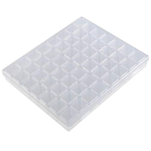 Whitegeese Nail Accessories Storage Box Tool Box Can Be Split Into 56 Separate Boxes