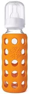 product image for Lifefactory Glass Baby Bottle w/ Silicone Sleeve :: Orange 9oz.