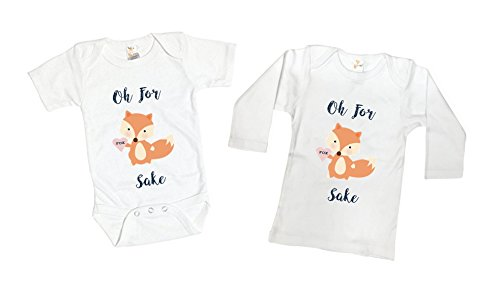 Funny Oh For Fox Sake Woodland Animals Toddler Kids Tee Shirt or Baby Bodysuit (Adorable Children's Boutique)