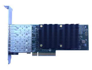 Chelsio T540-LP-CR 4-Port 1/10GbE, Low Profile UWire Adapter with PCI-E x8 Gen 3, 32K Conn, SFP+ Connector by Chelsio