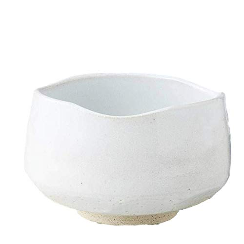Matcha bowl 4.53''dia. Japanese tea cup for tea ceremony, Made in Japan, White M5913032