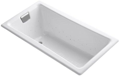Kohler K-852-G0-0 Tea-For-Two Bubblemassage 5Ft Bath with White Airjet Color, ()