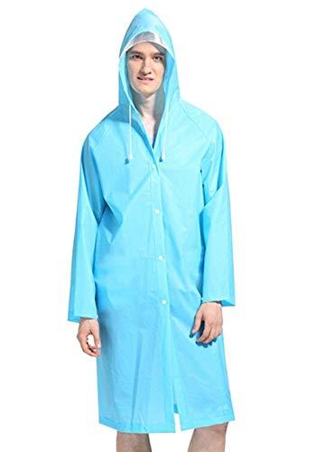 Traspirante Travel Adulto Backpack Stlie Lanceyy Camping Unisex Impermeabile Outdoor Blau Hood Riutilizzabile Lungo Grazioso Poncho wq1I7TB