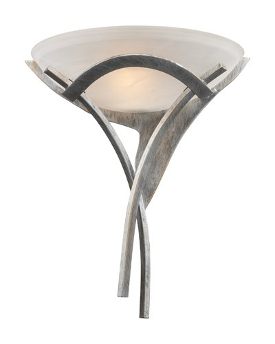 Elk 001 Ts Aurora 1 Light Sconce  18 Inch  Tarnished Silver With Amber Glass