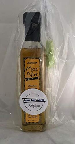 MacNut Oil Macadamia Nut Oil - 8.5 oz with Silicone Basting Brush in a Prime Time Direct Sealed Bag ...