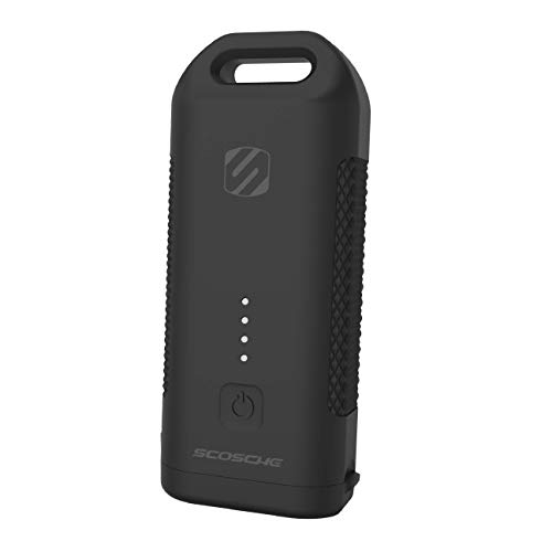 SCOSCHE HDPB5 GoBat 5,200 mAh Rugged 12W Heavy-Duty Portable Battery Pack with Built-in Flashlight and 1-ft. Micro-USB Cable - Black (Gobat Scosche)