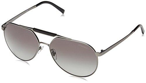 Versace Men's Gradient VE2155-135111-59 Grey Aviator - Sunglasses Aviator Versace