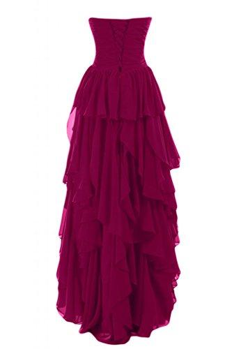 da da per scollo rosa sera Gowns Pageant abiti Romantic Hi Sunvary donna Sweetheart basso fucsia lo lungo BwRqvYx4