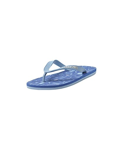 JACK & JONES Herren Flip Flop jjSPLIT Zehentrenner Badeschuh Badesandale Sommer Urlaub Blau (Victoria Blue)
