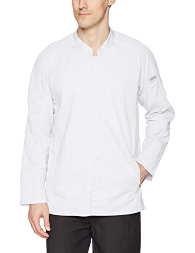 Chef Works Men's Valencia Chef Coat, White, X-Large by Chef Works