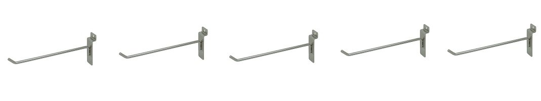 Econoco Deluxe Hook for Slat Wall, 8'' Chrome (Pack of 96) (5-(Pack of 96))
