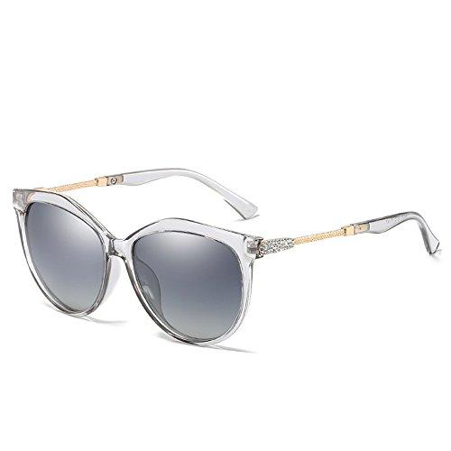 Dukars Fashion Women Polarized Sunglasses Retro Wayfarer Eyewear Oversized Goggles Eyeglasses (Transparent Grey)