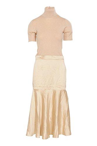 Brunello Cucinelli Kleid Damen Beige Einfarbig Kaschmir M IT FxmiotyM 1b02d24568