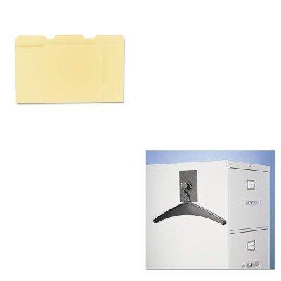 KITQRT2015MUNV12113 - Value Kit - Quartet Magnetic Coat Hook w/Heavy-Duty Hanger (QRT2015M) and Universal File Folders (UNV12113)