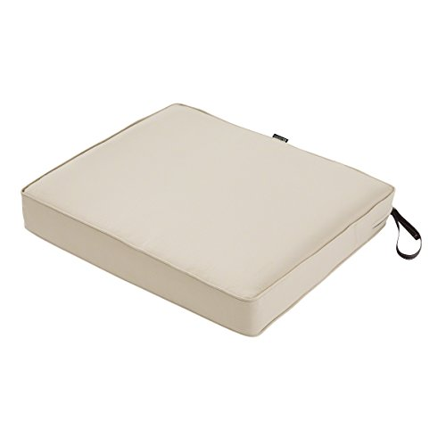 Classic Accessories Montlake Seat Cushion Foam & Slip Cover, Antique Beige, 23x21x3