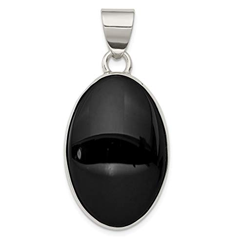 Choker Onyx - 925 Sterling Silver Black Onyx Oval Pendant Charm Necklace Natural Stone Fine Jewelry Gifts For Women For Her