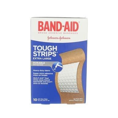 Band-Aid 包帯タフストリップ特大のすべてのワンサイズ - 10 CT、5パック   B078YHP6YL