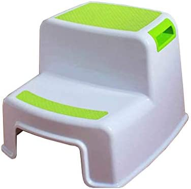 Toddlers Stool for Potty Training and Use in the Bathroom or Kitchen Versatile Two-Step Design for Growing Children Dual Height Step Stool for Kids Soft-Grip Steps Provide