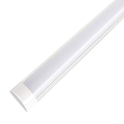 3FT LED Tube Light Integrated Fixtures, 30W Low Profile Batten Lights, 2250 Lumens, 6500K for Garage, Shop, Office - 1 Pack