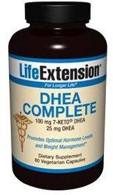 Life Extension DHEA complète, 100 mg 7-Keto DHEA, 25 mg de DHEA, 60 capsules