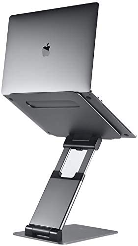"Ergonomic Laptop stand for table, Adjustable top as much as 20"", Laptop riser laptop stand for computer, Portable computer stands, Fits MacBook, Laptops 10 15 17 inches, Laptop holder and Laptop table stand"