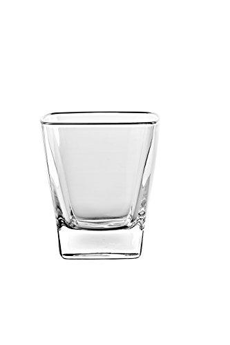 - Barski European Glass - Square - Double Old Fashioned Tumbler Glasses - Uniquely Designed - Set of 6 - 11 oz. - Made in Europe